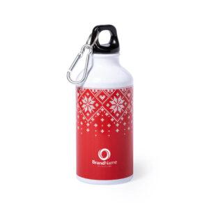 garrafa de alumínio natalícia personalizada