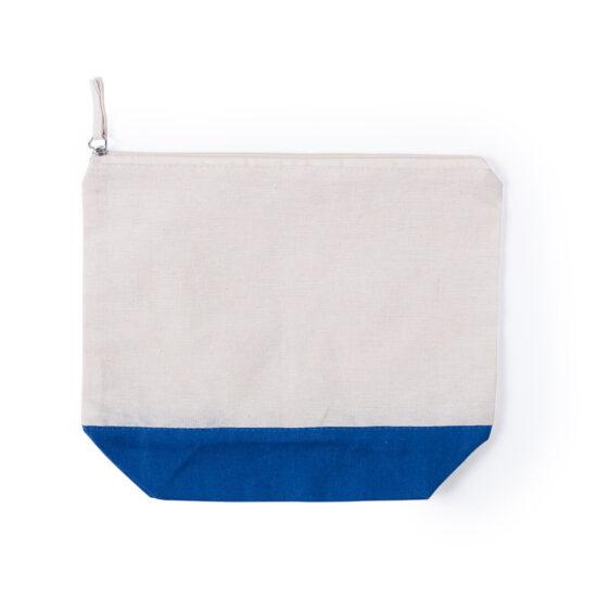 necessaire de algodão azul