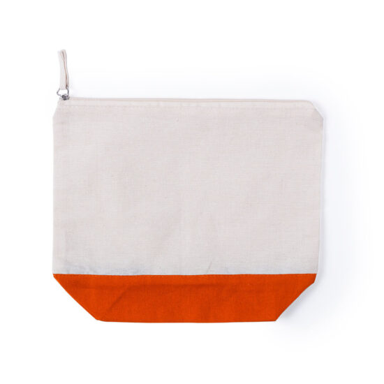 necessaire de algodão laranja