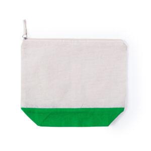 necessaire de algodão verde