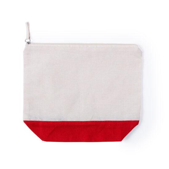 necessaire de algodão vermelho