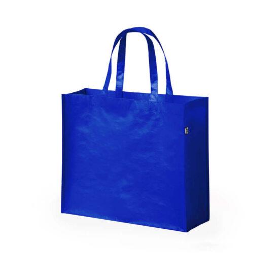 saco de compras azul em rpet