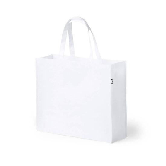 saco de compras branco em rpet