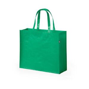 saco de compras verde em rpet