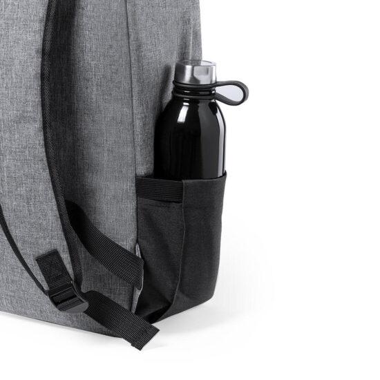bolso exterior com garrafa de mochila de plástico reciclado