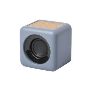 coluna bluetooth de cortiça e cimento calcário