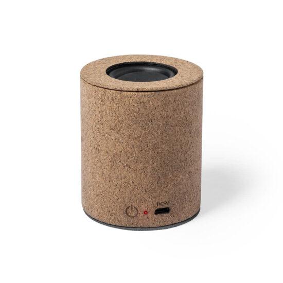 coluna Bluetooth de cortiça