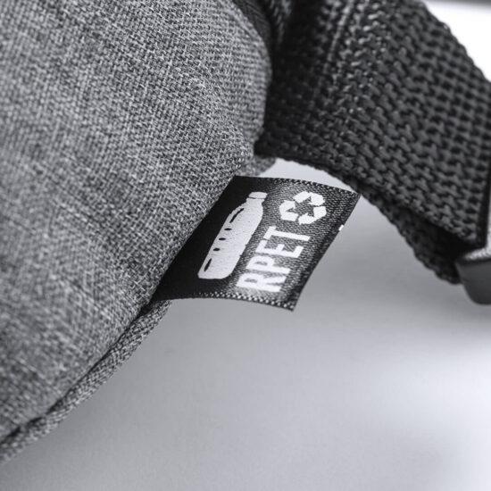 etiqueta rpet de bolsa de cintura em plástico reciclado
