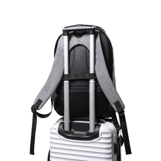 mochila anti-roubo em rpet com alça para mala de viagem