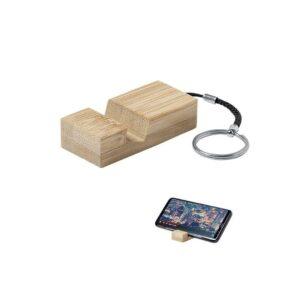 porta-chaves com suportes de bambu para telemóveis