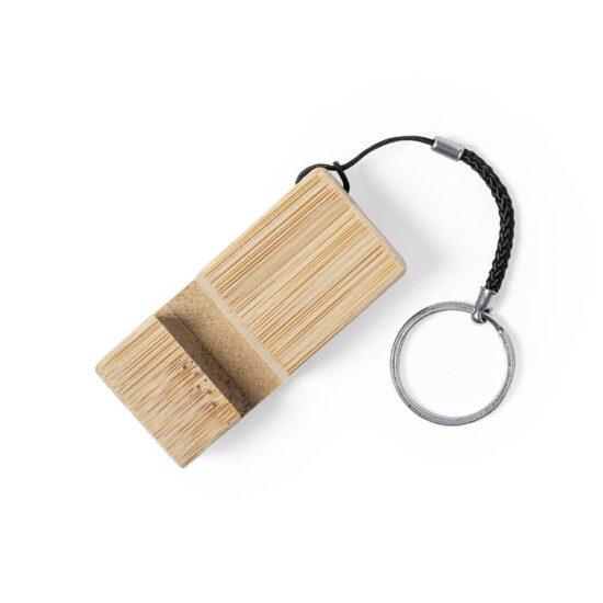 porta-chaves personalizável com suportes de bambu para telemóveis