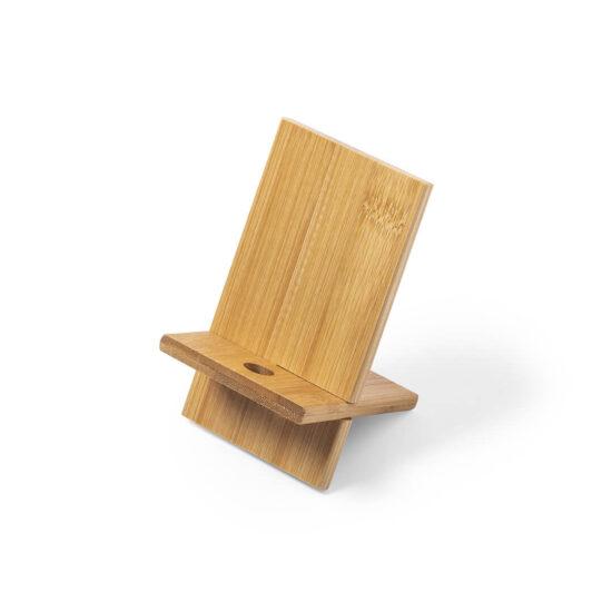 suporte para telemóvel de bambu personalizável