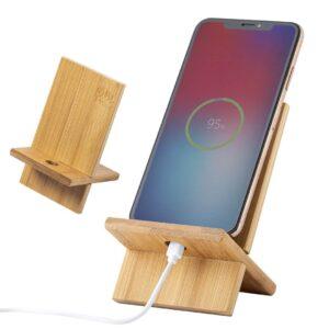 suporte para telemóvel de bambu