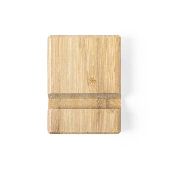 suporte de bambu para tablets e smartphones personalizável