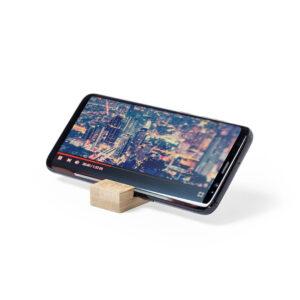porta-chaves com suportes de bambu para smartphone