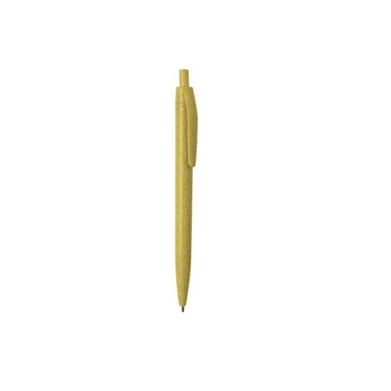 caneta de palha de trigo amarela