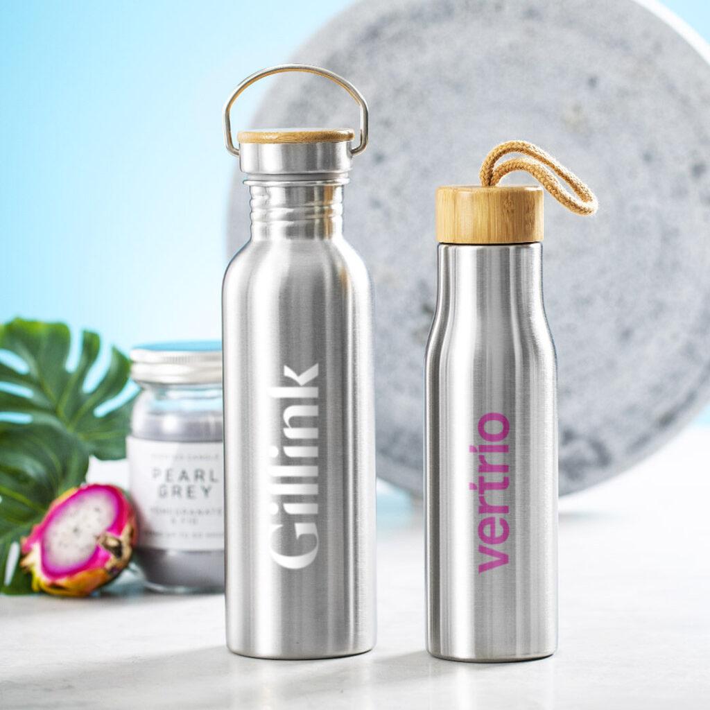 garrafas-aço-inox-bambu-reutilizáveis