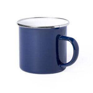 caneca azul de aço inoxidável