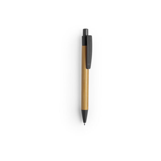 caneta preta de bambu e palha de trigo