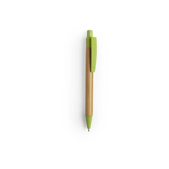 caneta verde de bambu e palha de trigo