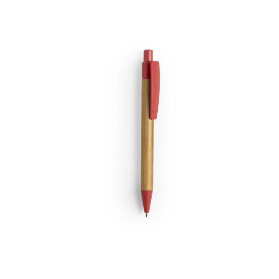 caneta vermelha de bambu e palha de trigo