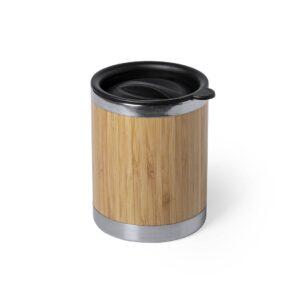 copo de bambu e aço inoxidável de 300 ml