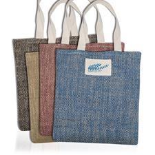 cores de saco de juta com alças de algodão