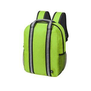 mochila verde de plástico reciclado