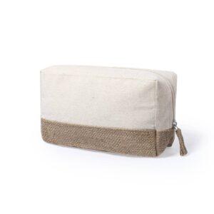 necessaire de algodão com base em juta