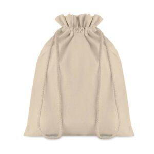 saco médio de algodão com atilhos