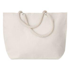 saco de praia de algodão bege