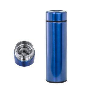 termo azul de 500 ml em aço inoxidável com infusor