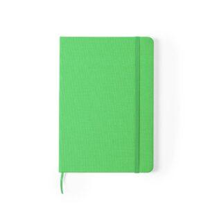 bloco de notas a5 verde com capas rpet
