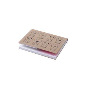 bloco de notas adesivas com capas em cartão reciclado