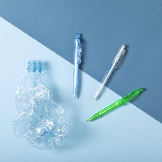 canetas de plástico reciclado personalizadas