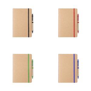 cores de cadernos a5 com capas de cartão reciclado
