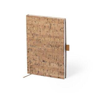 bloco de notas a5 com capas em cortiça e folhas lisas