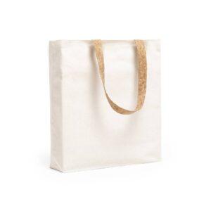 saco de algodão com alças de cortiça curta