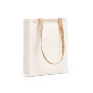saco de algodão com alças de cortiça personalizável