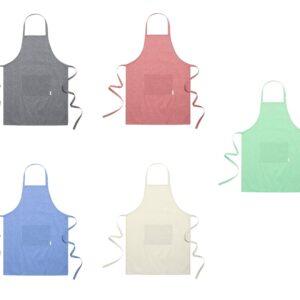 cores de avental de algodão reciclado