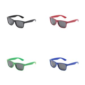 cores de óculos de sol de plástico reciclado
