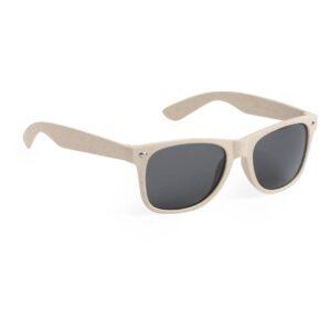 óculos de fibra de bambu abertos