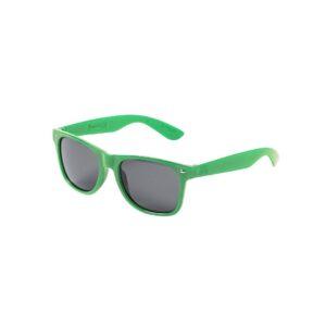 óculos de sol verdes de plástico reciclado