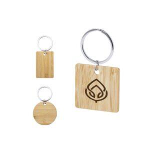 formatos de porta-chaves de bambu