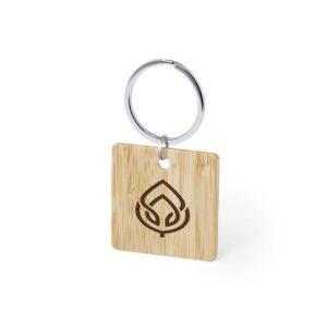 porta-chaves de bambu quadrangular personalizado