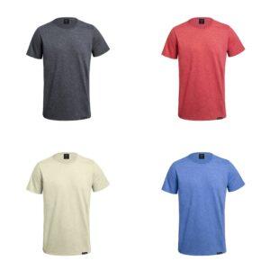 cores de t-shirts unissexo de algodão reciclado