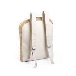 costas de mochila de juta e algodão