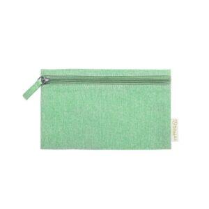 necessaire de algodão reciclado verde