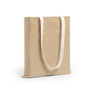 saco em papel laminado com alças longas de algodão