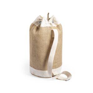 saco de desporto de juta e algodão com alça ajustável